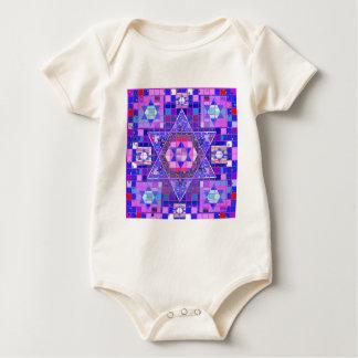 Star of David mosaic Baby Bodysuit