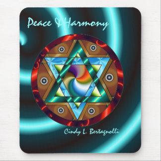 Star of David Peace & Harmony Mouse Pad