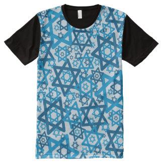 Star of David Random All-Over Print T-Shirt