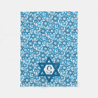 Star of David Random Fleece Blanket