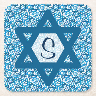 Star of David Random Square Paper Coaster