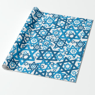 Star of David Random Wrapping Paper