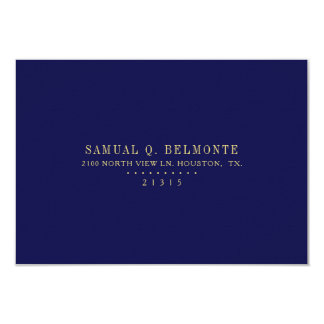Star of David RSVP Blue | Return Address Card