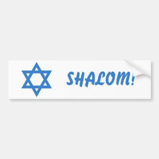 Star of David, SHALOM! Bumper Sticker