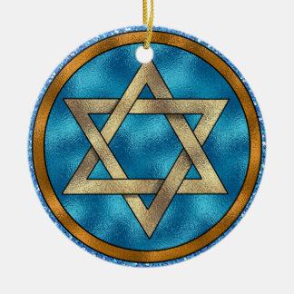 Star of David Shalom - SRF Ceramic Ornament