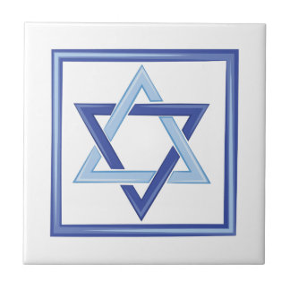 Star Of David Small Square Tile