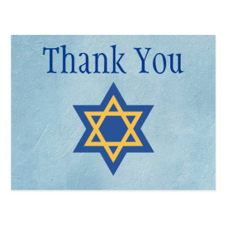 Star of David Thank You Postcard