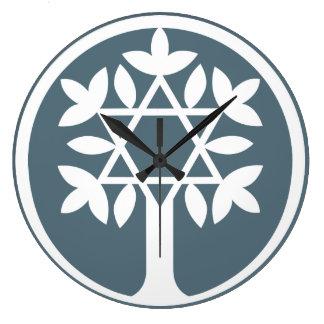 Star of David - Tree of Life Wall Clock. Large Clock