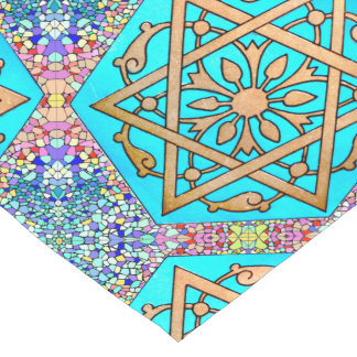 Star of David Turquoise Short Table Runner