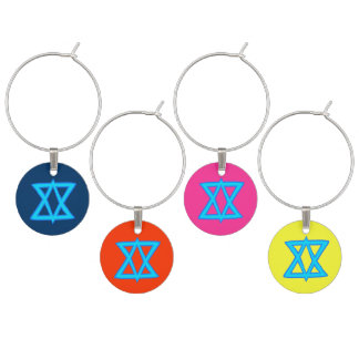 Star of David wine charms