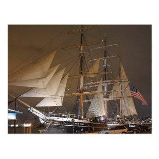 Star Of India Sails Sailing Ships Boats Postcard