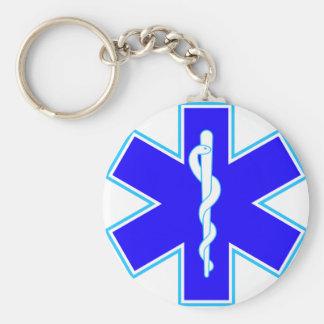 Star of Life (ambulance) Basic Round Button Key Ring