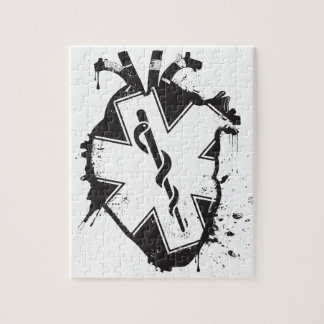 star of life anatomical heart jigsaw puzzle