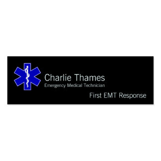 Star of Life Business Card Template