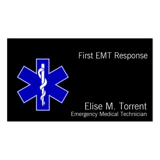 Star of Life Business Card Templates