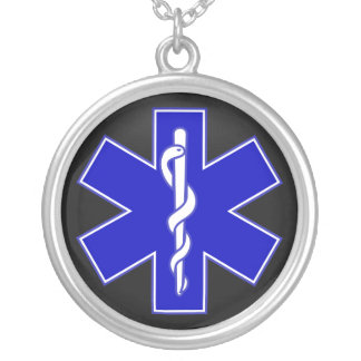 Star of Life / EMT Silver Plated Necklace