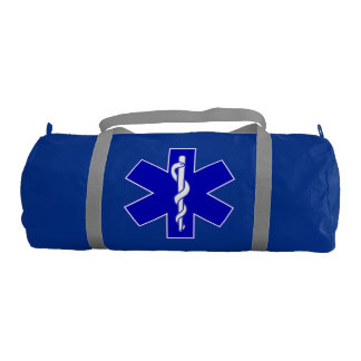 Star Of Life (logo only blue) Gym Bag
