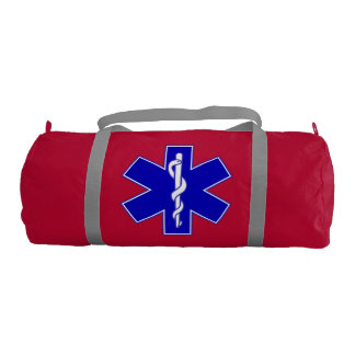 Star Of Life (logo only red) Gym Bag