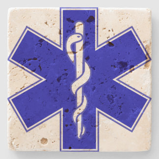 Star Of Life (logo only) Stone Coaster