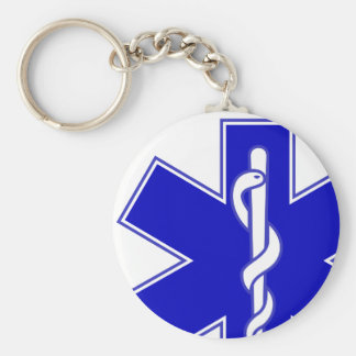 Star of Life Offset Keychain