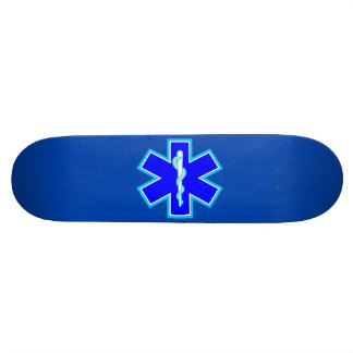Star of Life Paramedic Emergency Medical Services 19.7 Cm Skateboard Deck