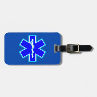 Star of Life Paramedic Emergency Medical Services Bag Tag