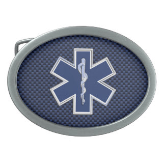 Star of Life Paramedic Emergency Medical Services Oval Belt Buckles