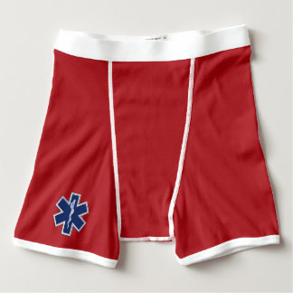Star of Life Paramedic Emergency Medical Services Boxer Briefs