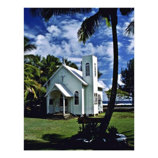 "Star Of The Sea """"Painted"""" Church - Kalapana, Haw Custom Flyer"