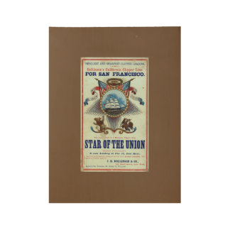 Star of The Union Wood Poster