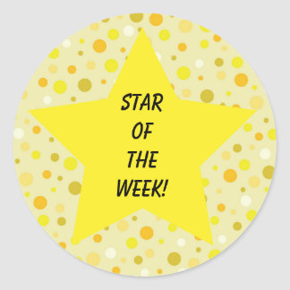 Star of the Week Yellow Classic Round Sticker