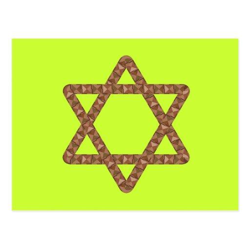 Star of Tiles Star of David for Bar or Bat Mitzvah Post Cards