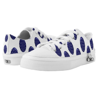 Star On Blue Navy Low Tops