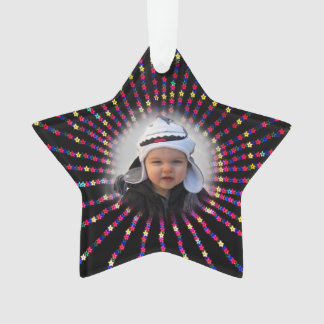 Star Ornament with customizable picture