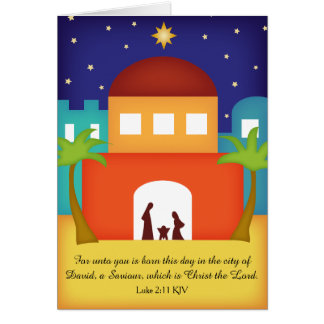 Star over Bethlehem Christmas Nativity Card