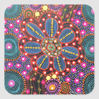 Star Path by Karen Bird Ngale Square Sticker