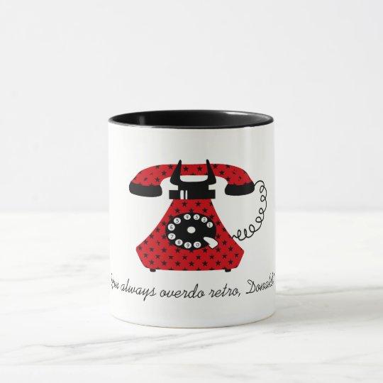 Star Pattern Black Red Retro Phone Cool Attractive Mug