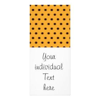 Star pattern,golden customised rack card
