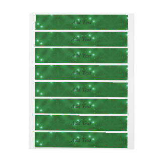 Star Pattern green Wraparound Address Label