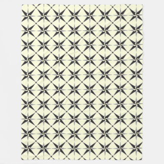 Star pattern On beige Background Fleece Blanket
