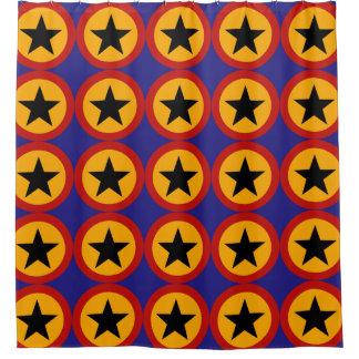 Star Pattern Shower Curtain