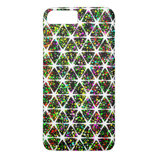 Star Pattern With Paint Splatter iPhone 7 Plus Case