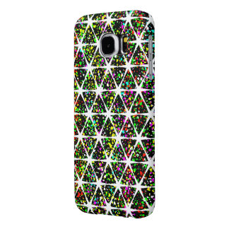 Star Pattern With Paint Splatter Samsung Galaxy S6 Cases