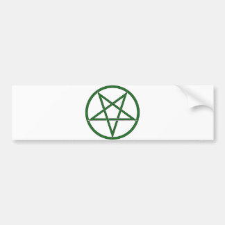 Star Pentagram Five 5 Pointed Symbol Classic Comic Bumper Sticker