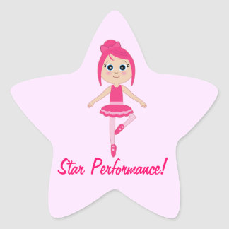Star Performance Dance and Ballet Star Sticker