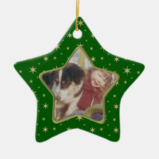 Star photo Christmas ornament