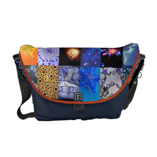 Star Photo Collage Bag Messenger Bag