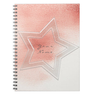 Star Pink Rose Peach Powder Metallic Blush Notebooks