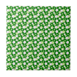 STAR POWER - Green ~ Small Square Tile