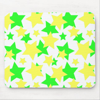 STAR POWER: GREEN & YELLOW PARADE! MOUSE PAD